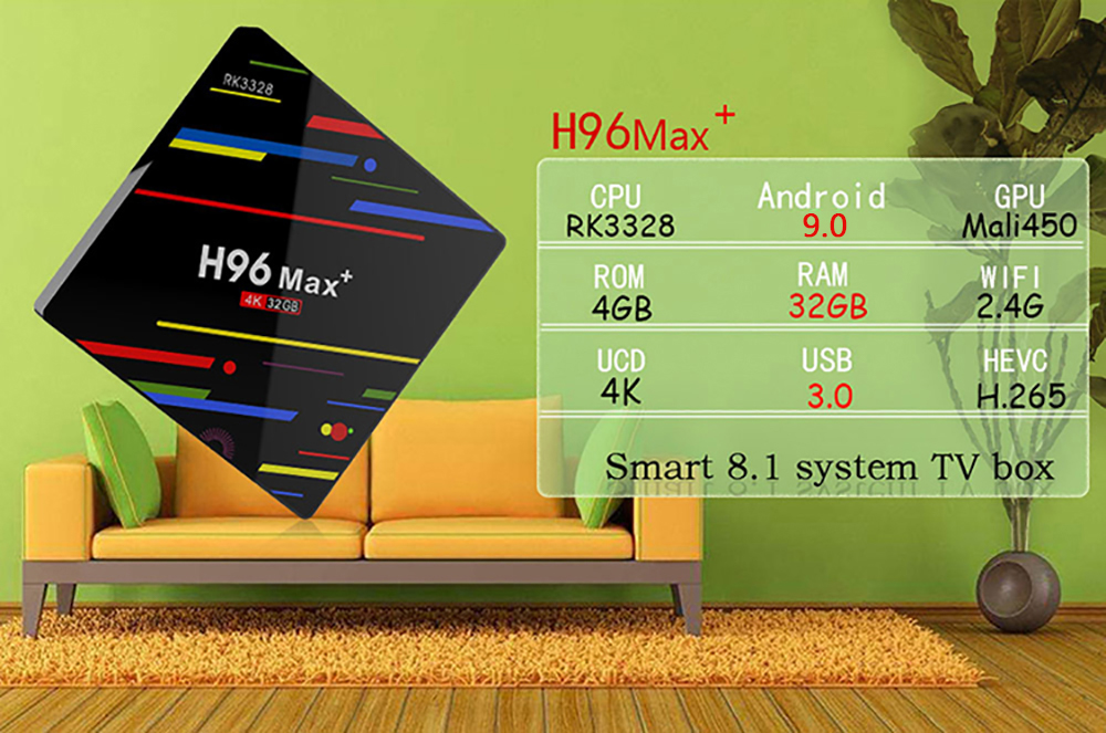 h96 max plus rk3328 android 9 tv box