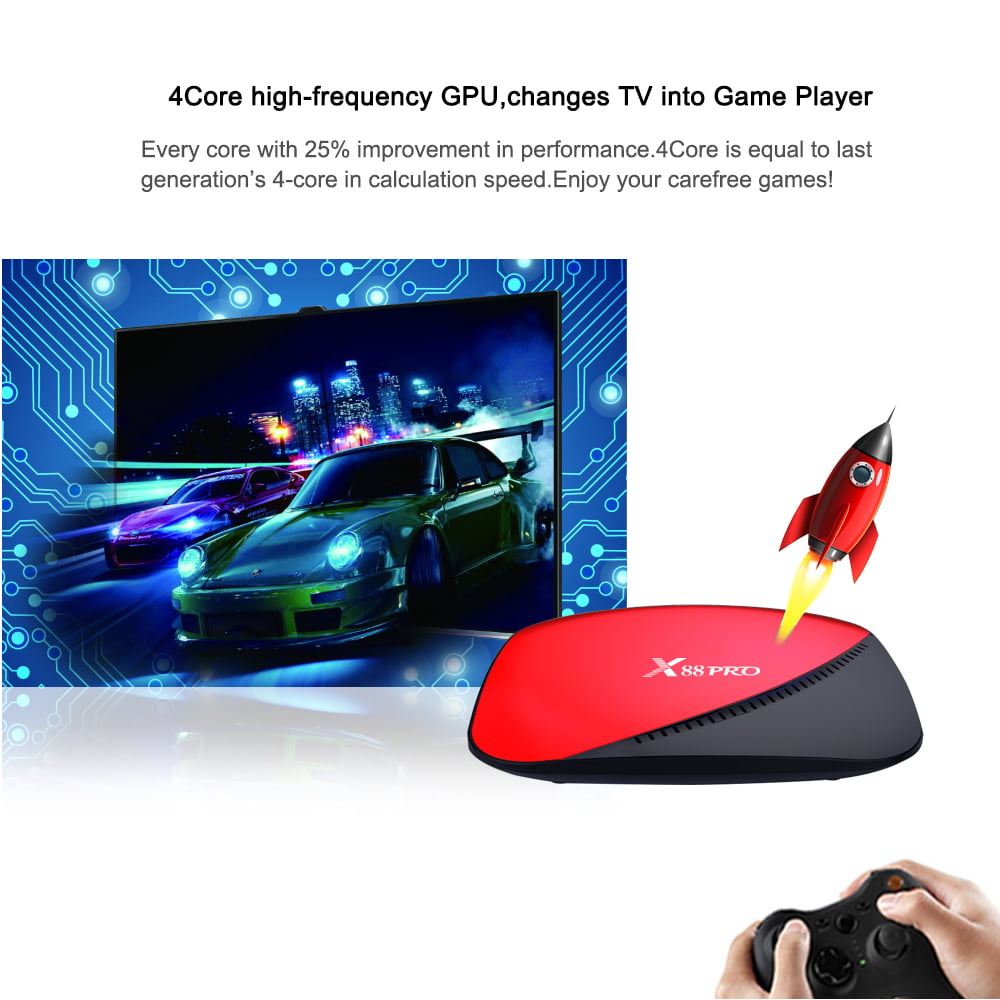 x88 pro tv box rk3318 android 9.0 4k media player