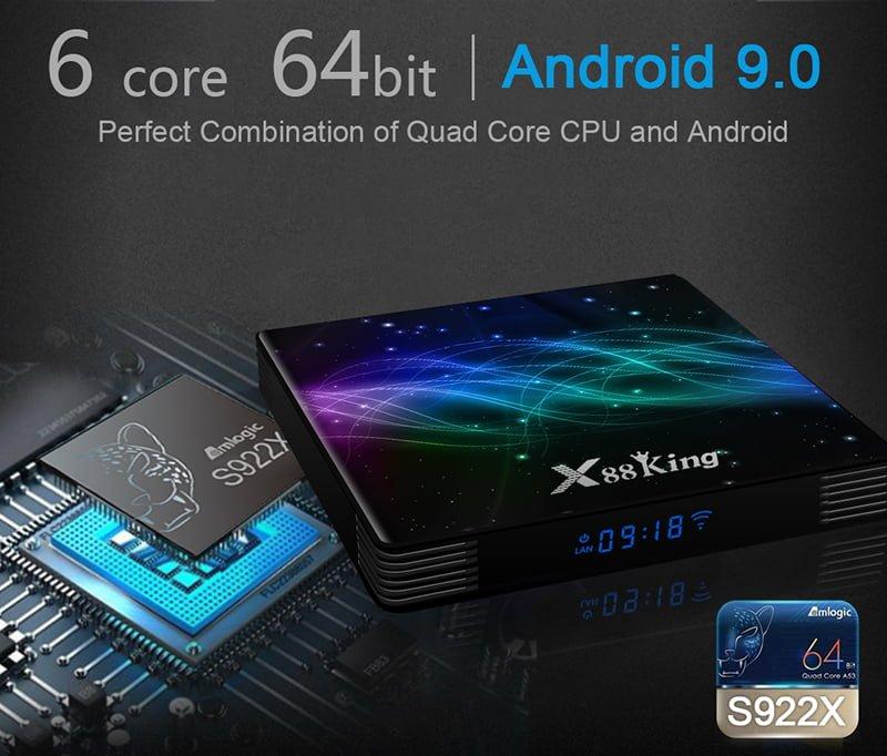 x88 king tv box, X88 King Amlogic S922X