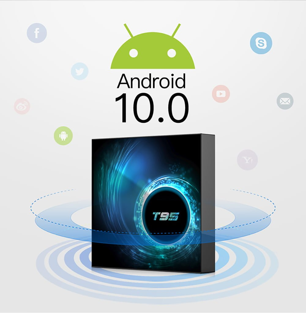 t95 tv box android 10