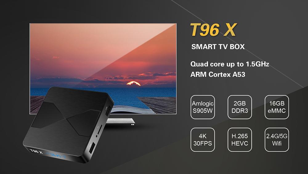 t96x smart tv box Amlogic S905W