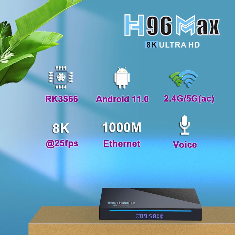 tv box h96 max, android 11 smart tv box h96 max, 8k ultra hd tv box, dual wifi 2.4g/5g, h96 max 3566, h96 max rk3566