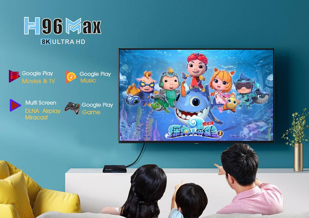 tv box h96 max android 11.0 dual band wifi 8k ultra hd google play game ott box, h96 max 3566, h96 max rk3566 android box