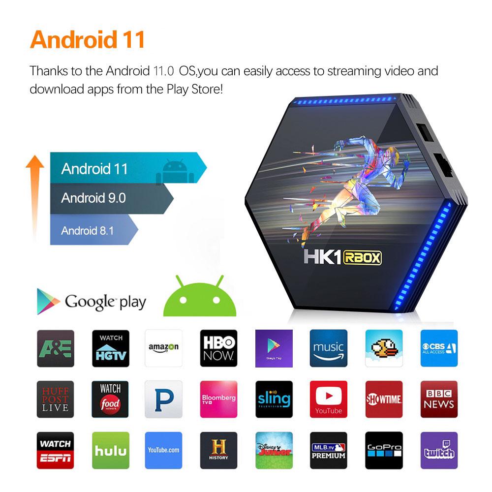 HK1 android 11.0 tv box rockchip rk3566 8k smart media player