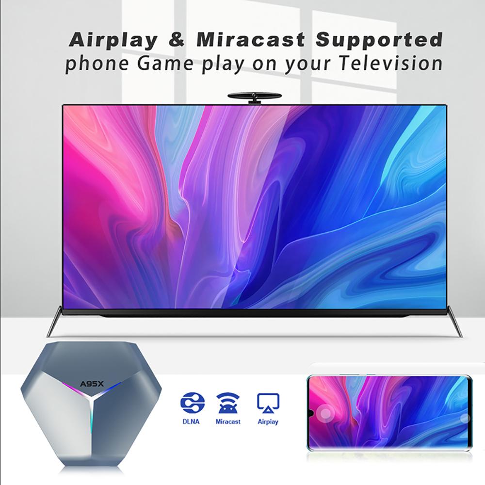 A95X F4 RGB light S905X4 Android 10 tv box