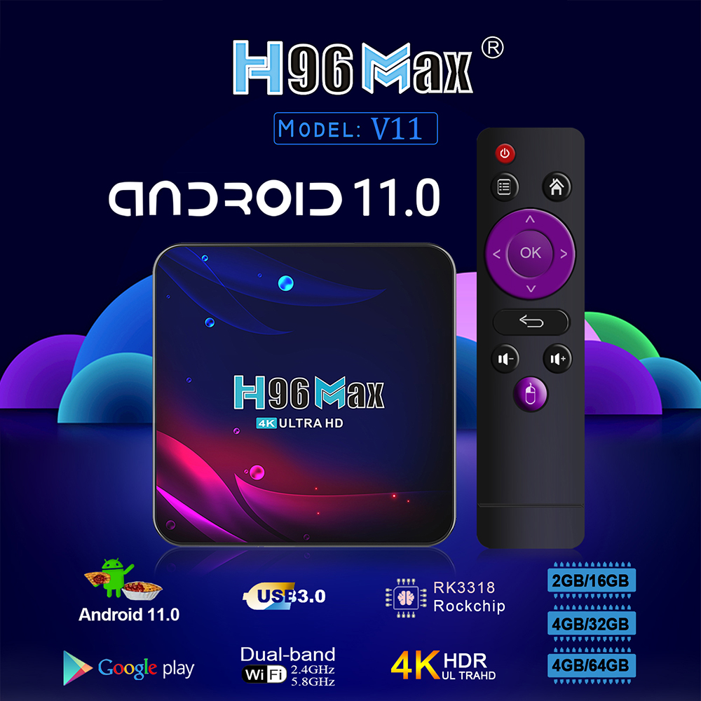 h96 max v11 rk3318 android 11 tvbox