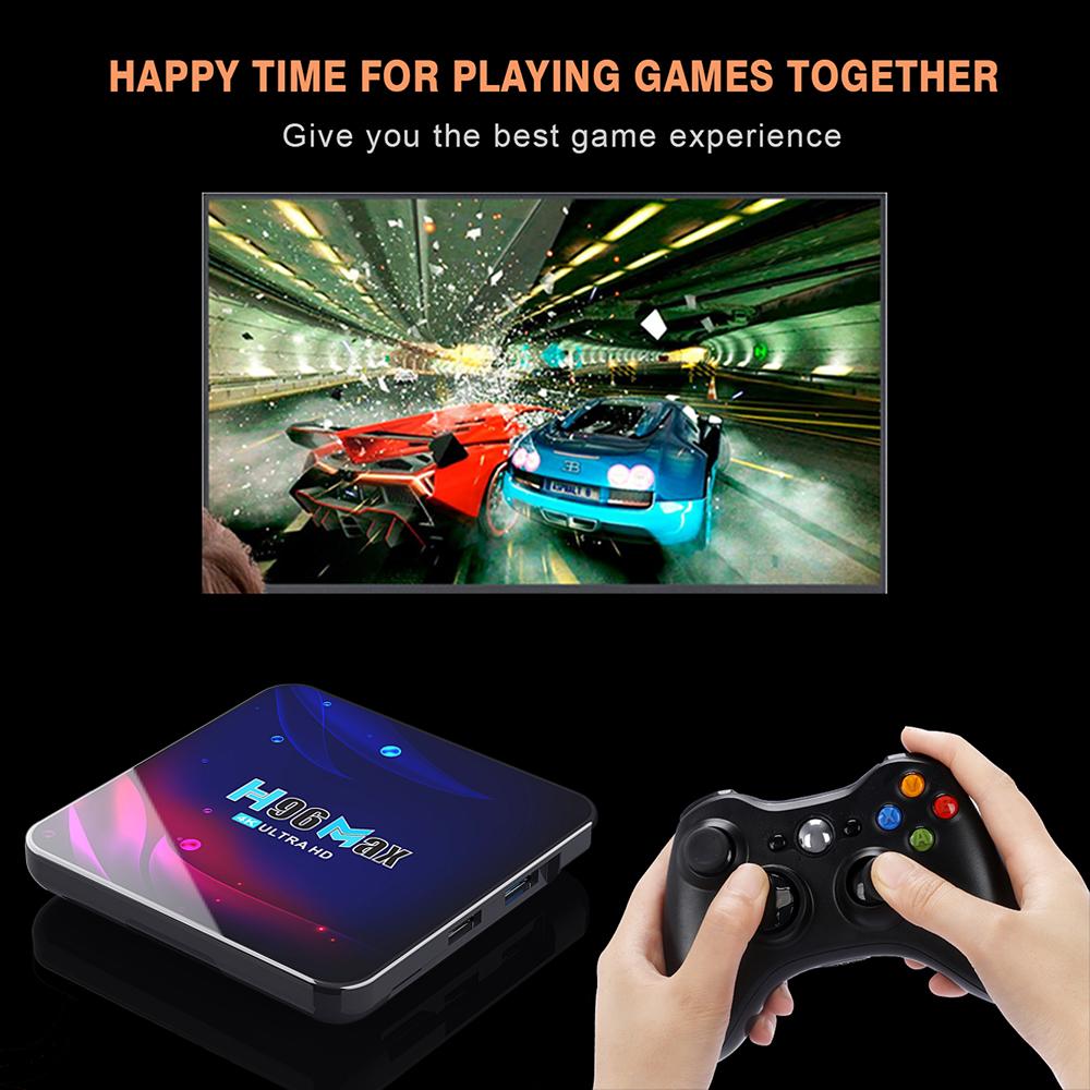 h96 max v11 android 11 tv box smart tv box 4k hd rockchip rk3318 youtube media player