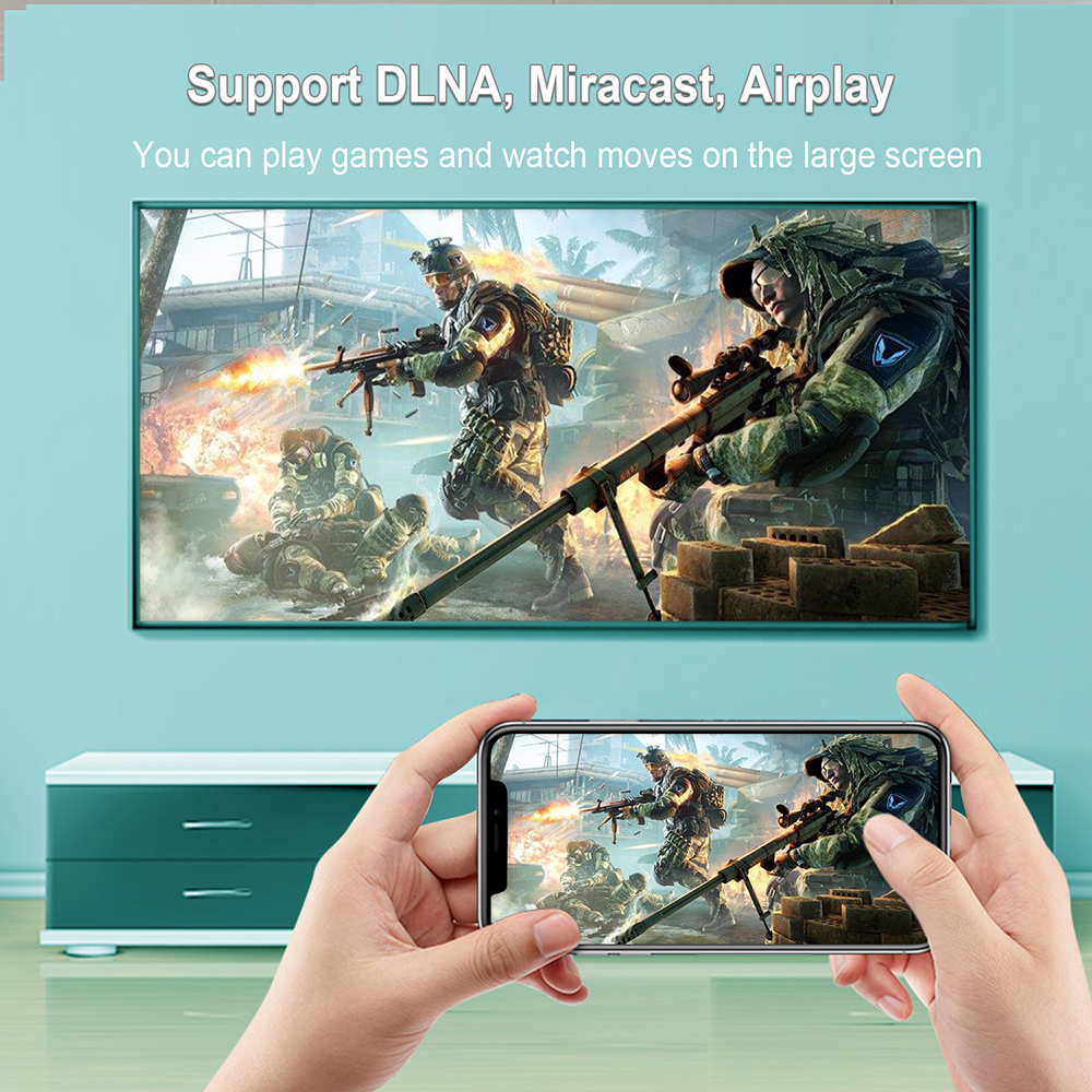 h96 max v11 android 11 tv box supports DLNA, Miracast, Airplay, game player