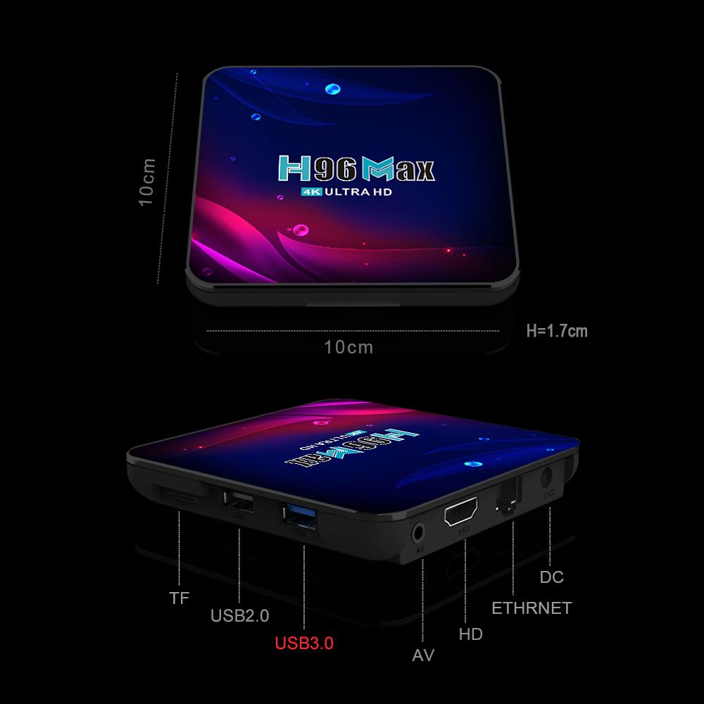 h96 max v11 android 11 tv box rockchip rk3318 4k hd media player