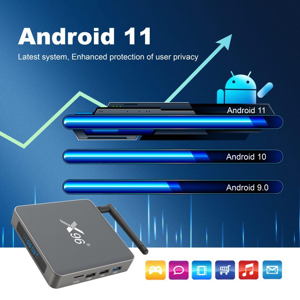 x96 x6 android 11 rockchip rk3566 tv box 8GB RAM
