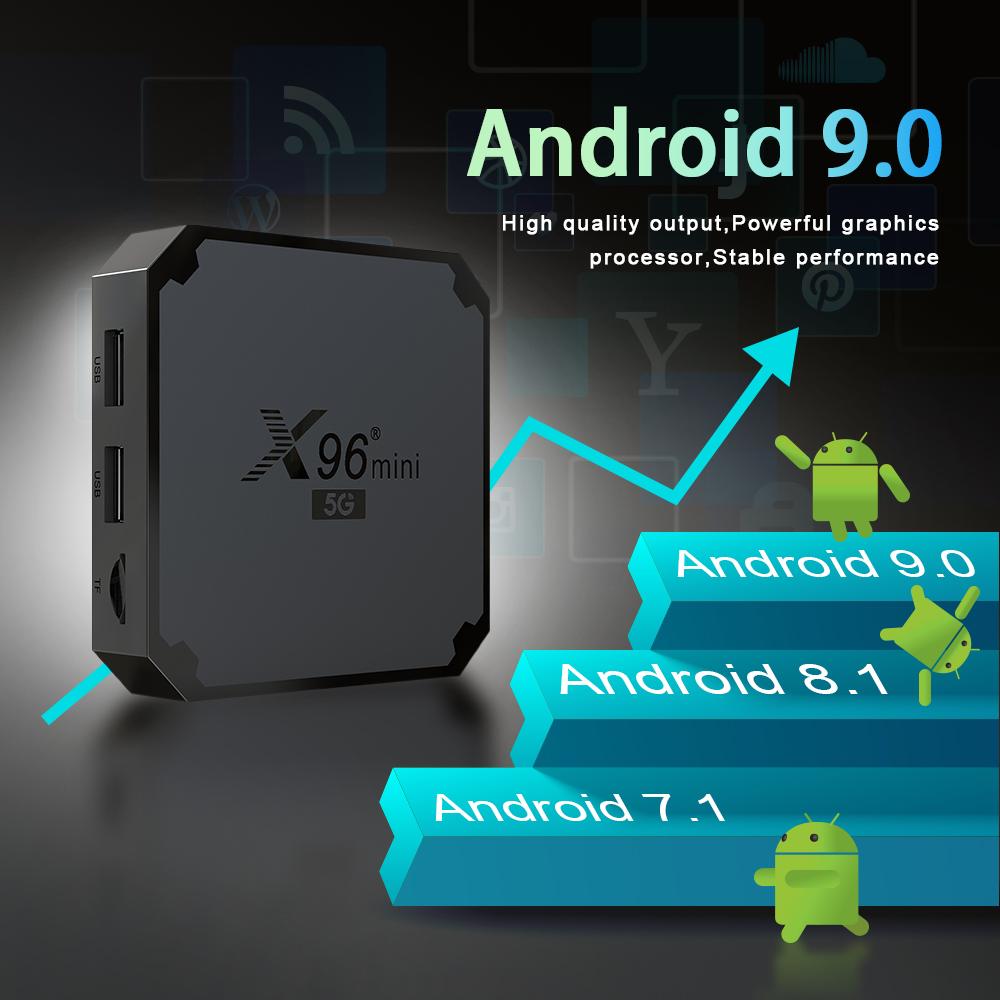 x96 mini 5G android 9.0 tv box amlogic s905w4