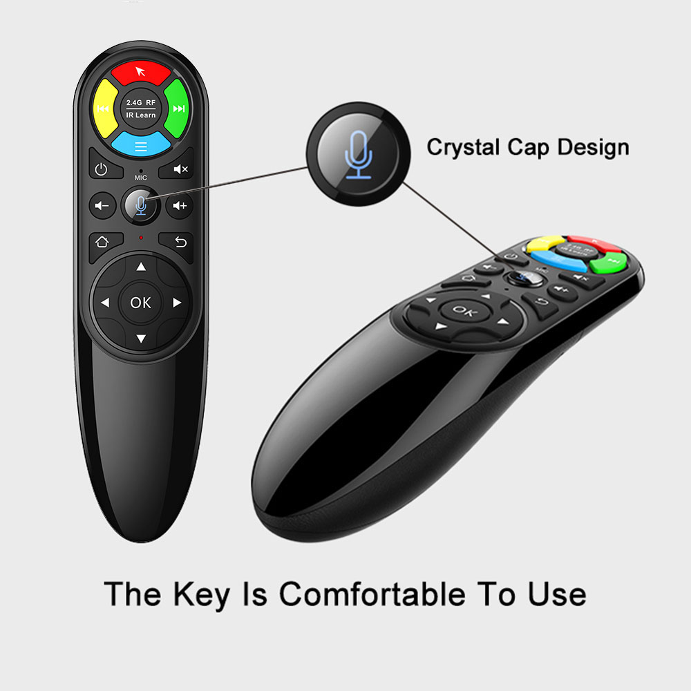 Q6 voice remote control for tv 2.4G wireless receiver